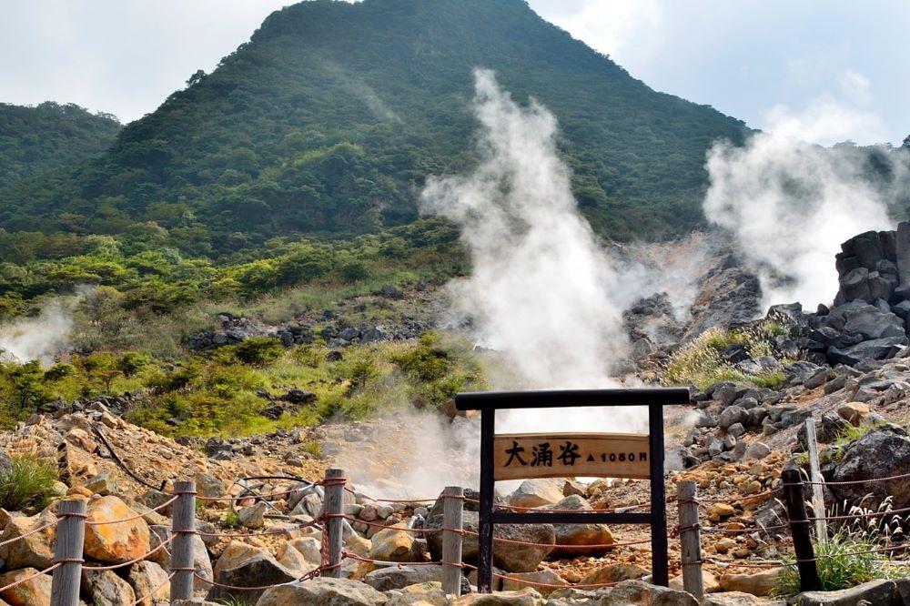 Viajar por japon-hakone-owakudani-fumarolas