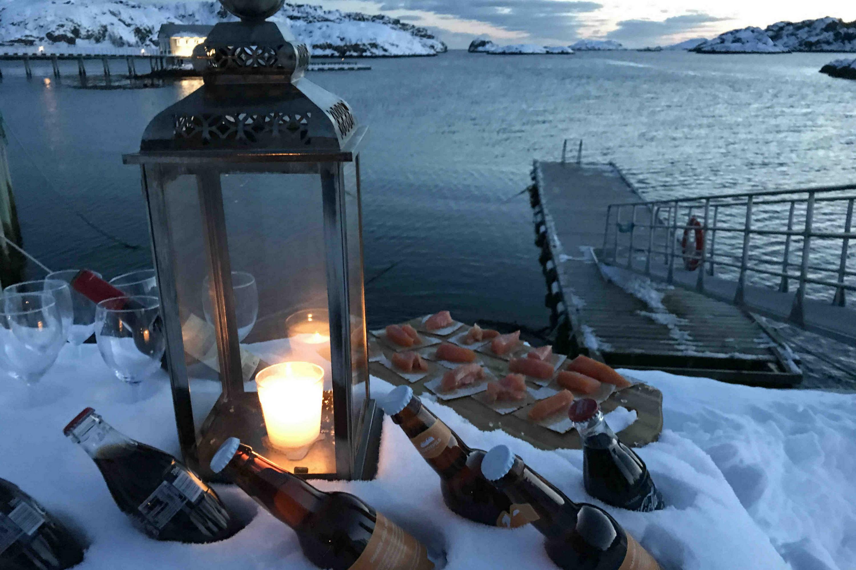 La gran experiencia polar. Ártico noruego. NUBA Everywhere. Lofoten playa aperitivo
