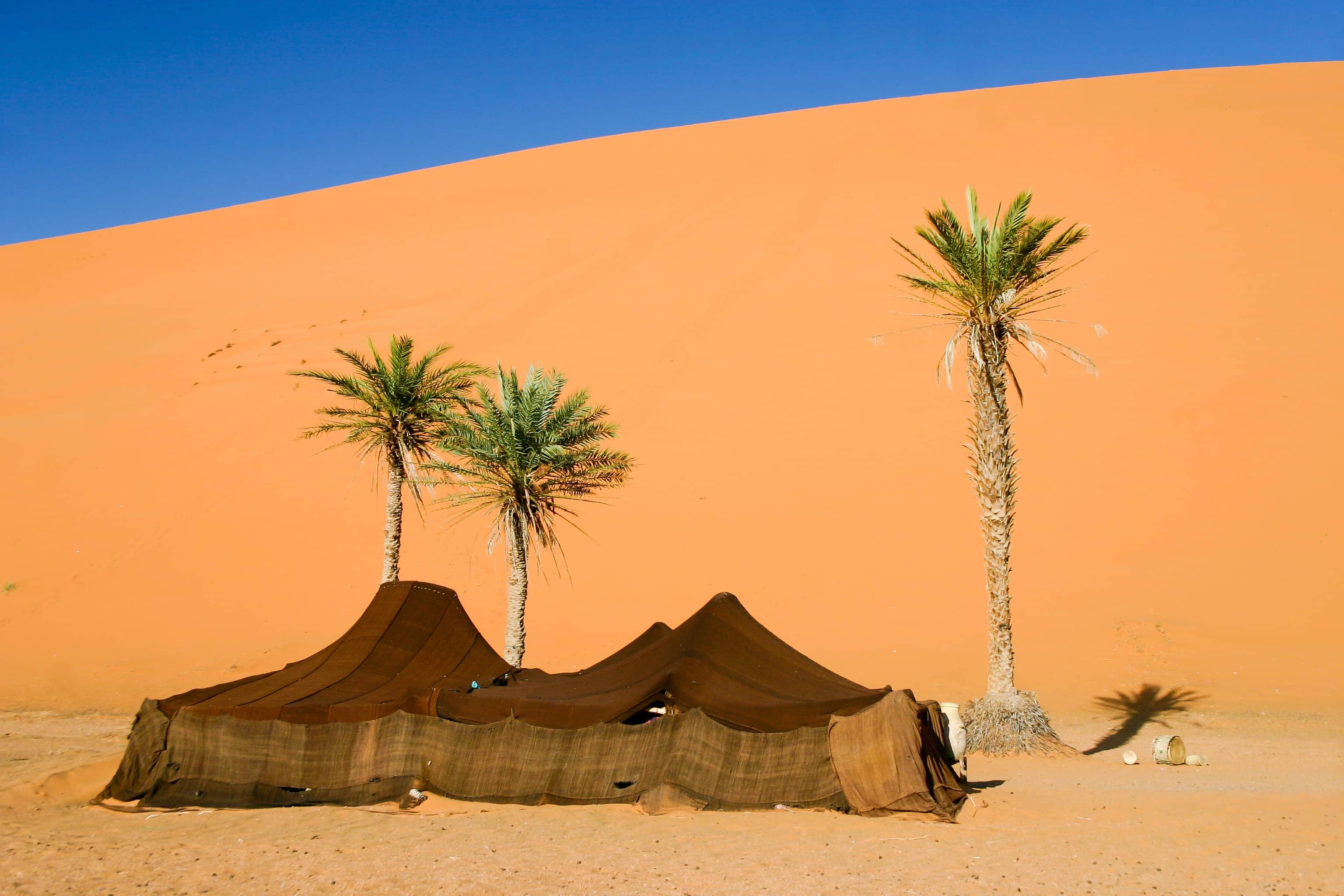 Marrakech. Lujo gastronómico. Nuba everywhere. Tienda campaña bereber