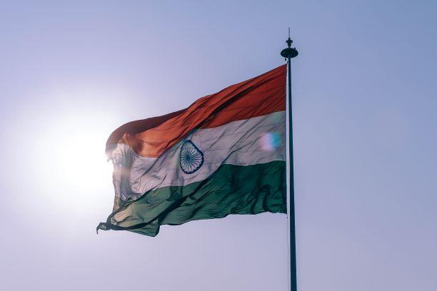 El corazón de un gran país. India del Sur. NUBA everywhere. Bandera india