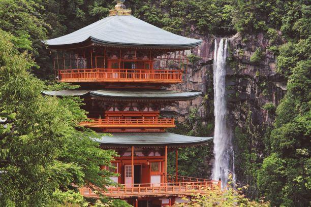 Geishas y samurais. Japón. NUBA everywhere. Catarata kegon