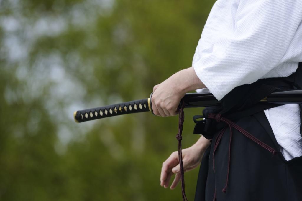 Geishas y samurais. Japón. NUBA everywhere. Katana