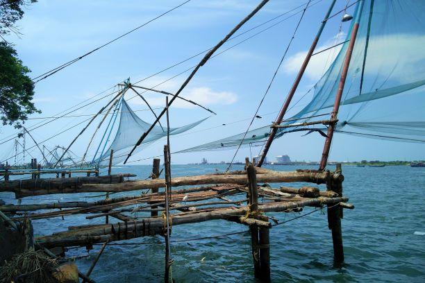 El corazón de un gran país. India del Sur. NUBA everywhere. Redes de pesca chinas