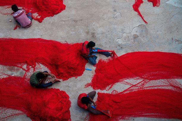 El corazón de un gran país. India del Sur. NUBA everywhere. Redes de pescadores chinas