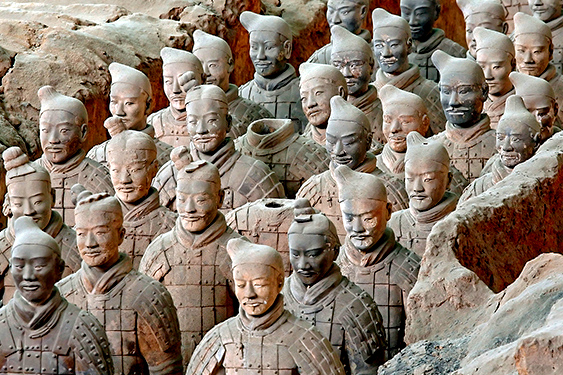 China. El país de los dragones y los osos panda. NUBA everywhere. Guerreros terracota