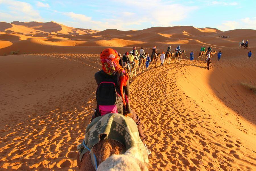 Viaje Marruecos Reyes Magos-caravana-camellos-marruecos
