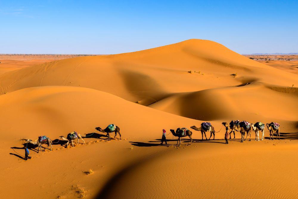 Viaje Marruecos Reyes Magos-caravana desierto