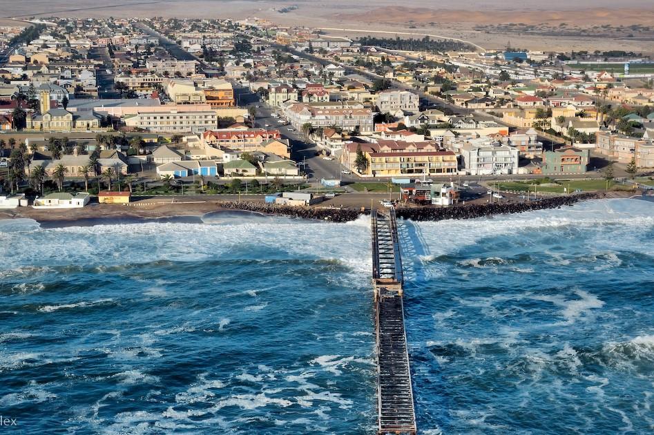 Viajar a Namibia-vista-aerea-puerto-swakopmund