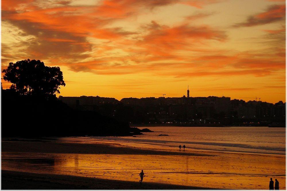 Viajar por España - Galicia a coruña playa